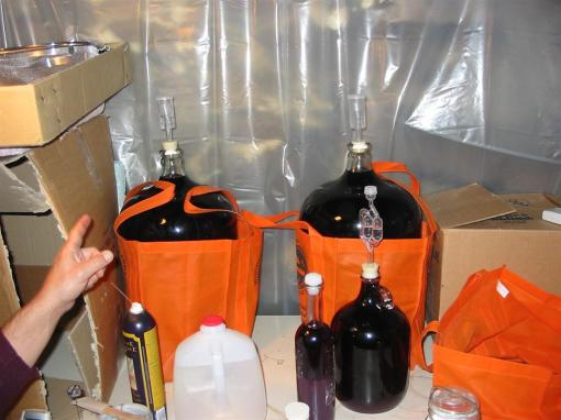 "Secondary fermentation in glass ""carboys"""